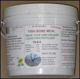 Reindeer 39 s water soluble fish bone meal 10 6 4 for Fish meal fertilizer